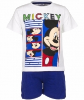 Mickey mouse korte pyjama wit met blauw trend