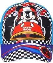 Mickey mouse pet cap blauw voor kinderen trend