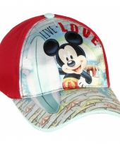 Mickey mouse petje rood trend