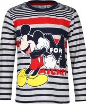 Mickey mouse t-shirt blauw grijs voor jongens trend