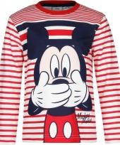 Mickey mouse t-shirt rood wit voor jongens trend