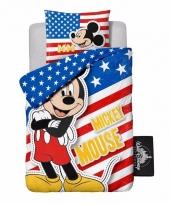 Mickey mouse usa dekbedovertrek jongens 140 x 200 cm trend