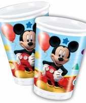 Mickey mouse wegwerp bekertjes 8 stuks trend