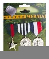 Militaire medailles 3 stuks trend