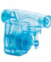 Mini blauw waterpistool 5 cm trend