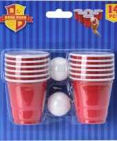 Mini game beerpong 14 delig trend