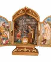 Mini kapel met heilige familie 18 cm trend