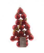 Mini kerstballetjes rood 17 stuks trend