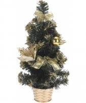 Mini kerstboom met gouden versiering 40 cm trend