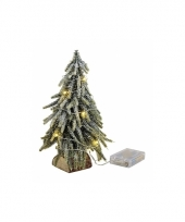 Mini kerstboompje met lichtjes 26 cm trend