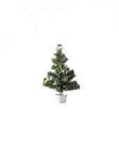 Mini kerstboompje zilver 36 cm trend