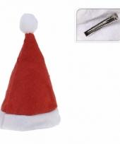 Mini kerstmutsje op clip trend
