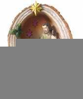 Mini kerststal met led licht 15 cm trend