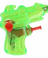 Mini waterpistool groen 7 cm trend