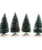 Miniatuur boompjes met sneeuw 4 stuks trend