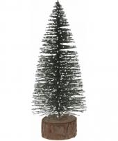 Miniatuur kerstboompje groen 25 cm trend