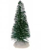 Miniatuur kerstboompjes groen 4 stuks trend