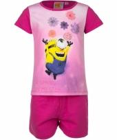 Minions bloemen korte pyjama meisjes trend