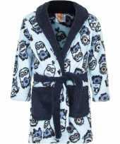 Minions fleece badjas blauw voor jongens trend