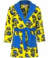Minions fleece badjas geel voor jongens trend