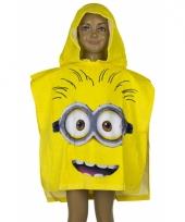 Minions gezicht badcape geel trend