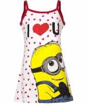 Minions jurk pyjama wit rood voor meisjes trend