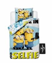 Minions selfie dekbedovertrek kinderen 140 x 200 cm trend