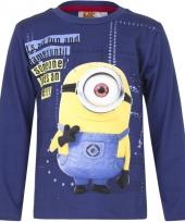 Minions t-shirt blauw voor jongens trend