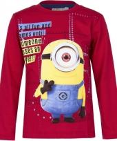 Minions t-shirt rood voor jongens trend