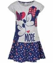 Minnie mouse blauw rokje met-shirt meisjes trend