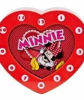 Minnie mouse klokken hartvormig trend