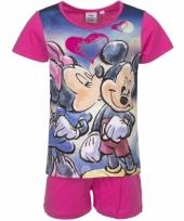 Minnie mouse korte pyjama roze trend