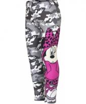 Minnie mouse legging grijs voor meisjes trend