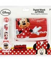 Minnie mouse portemonnee en horloge trend