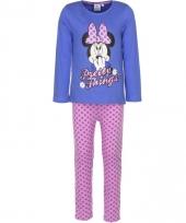 Minnie mouse pyjama paars voor meiden trend