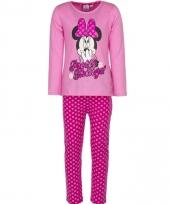 Minnie mouse pyjama roze voor meiden trend