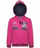 Minnie mouse sweater met rits roze trend