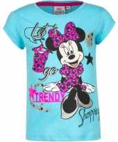 Minnie mouse t-shirt blauw voor meisjes trend 10076463
