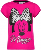 Minnie mouse t-shirt fuchsia voor meisjes trend