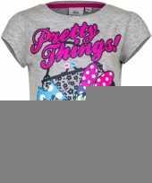 Minnie mouse t-shirt grijs voor meisjes trend 10076467