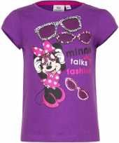Minnie mouse t-shirt paars voor meisjes trend