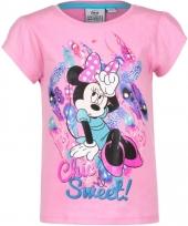 Minnie mouse t-shirt roze voor meisjes trend