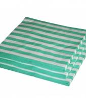 Mint kleur papieren servetten 33 x 33 cm trend