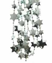 Mintgroene sterren kralenslinger kerstslinger 270 cm 3 stuks trend