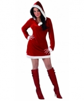 Miss santa kerstjurkje met capuchon trend