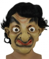 Mister bean masker met zwart haar trend