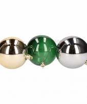 Mix kerstballen pakket blauw glans en groen doorzichtig trend