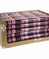 Mix kerstballen pakket roze glitter en bordeaux glans trend 10081375