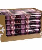 Mix kerstballen pakket roze glitter en bordeaux glans trend 10081379