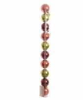 Mix plastic kerstballen pakket groen rood glanzend trend